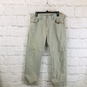 Mens Levis Strauss 505 Gray Jeans I01